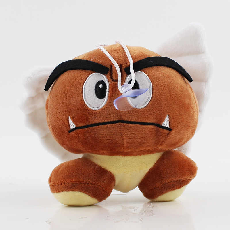 8741bd049be ... 15CM Super Mario Bros Goomba Plush Toy Smile Amazed With Wings Hats  Goomba Stuffed Dolls ...