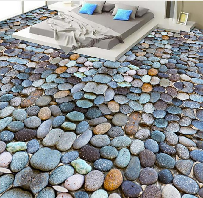 Best Wallpapers On The Wall 3d Floors Cobblestone Living Room