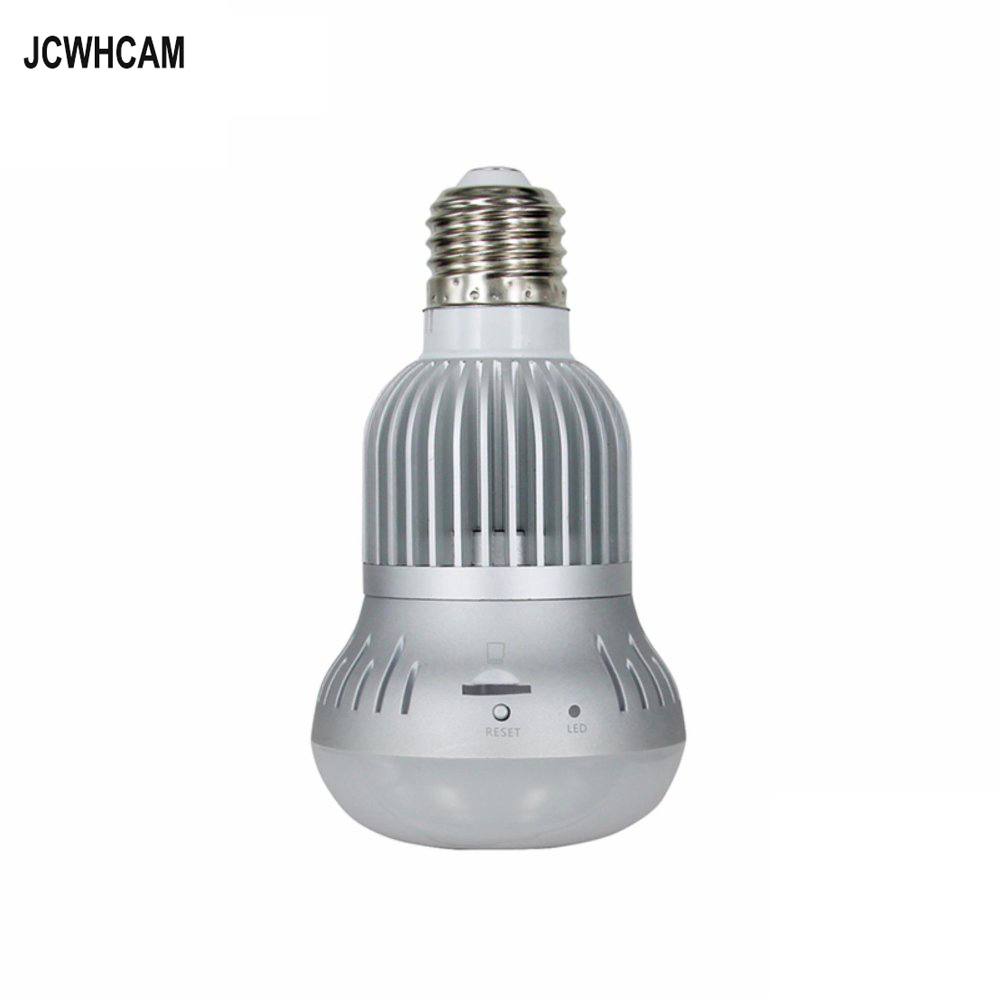JCWHCAM HD 960P 360 Degree WIFI Camera Wireless IP Camera Wi-Fi Bulb Lamp Fisheye Panoramic Security Camera Motion Detection vr360 panoramic camera wi fi remote control sports action camera