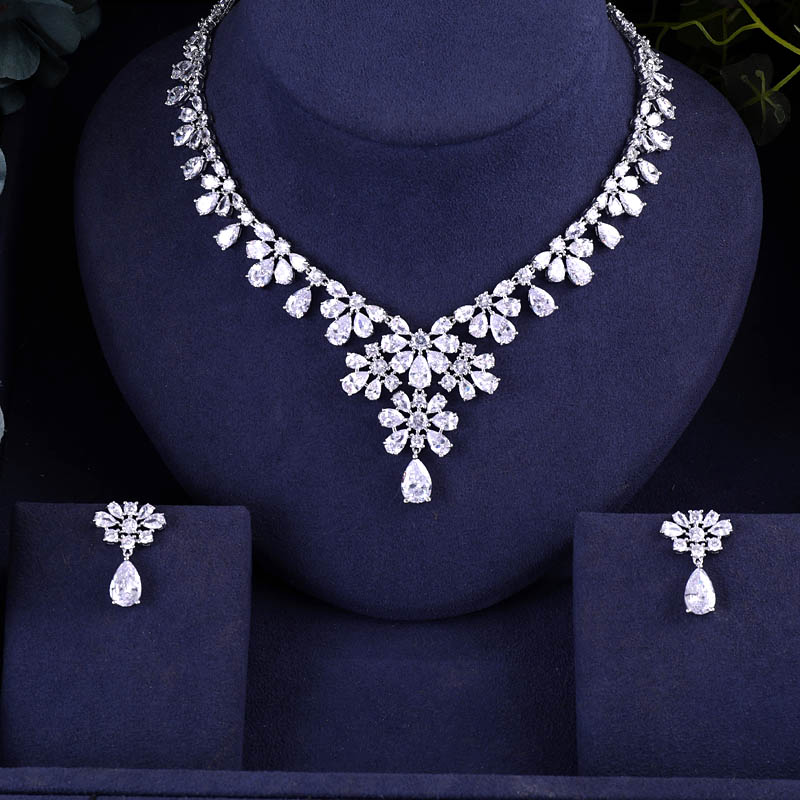 Jankelly Hotsale African 2pc Bridal Jewelry Sets New Fashion Dubai Necklace Sets For Women Wedding Party Accessories Design Bridal Jewelry Sets Aliexpress