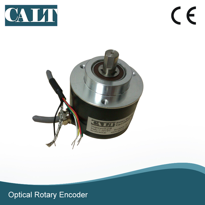 High resolution npn 4096 pulse incremental rotary encoder 10mm shaft speed Optical encoder with 1m cable dhc40m6 500 pulse encoder incremental solid shaft rotary encoder sensor