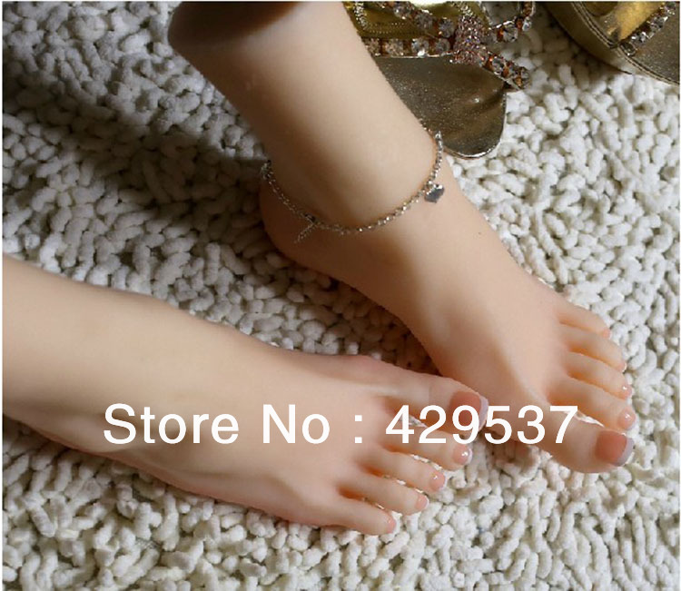 Top Quality Fake Foot for Displaying, Foot Fetish <font><b>Doll</b></font>, Lifelike Female Feet,Full Silicone Love <font><b>Doll</b></font>,Silicone Female Feet,FT-001 image