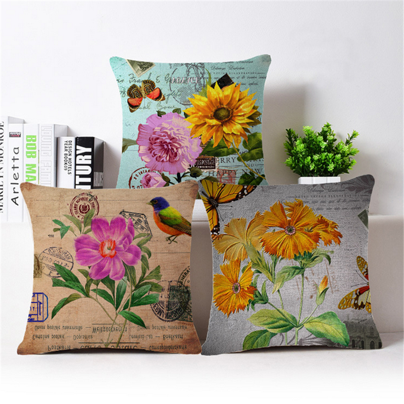 Nordic Floral Decorative Pillows Case For Sofa Case