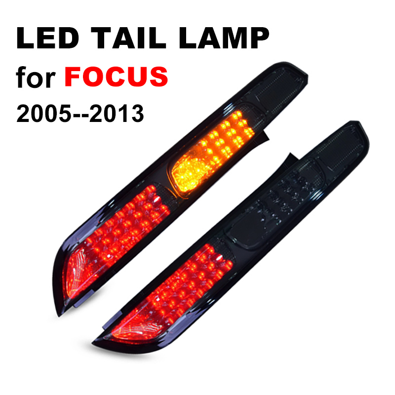 LED Tail Lamp for Ford Foucs 2005 2013 Smoked Black LED Tail Light with Yellow Turning
