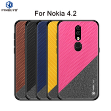PINWUYO For Nokia 4.2 Case Cover Hard PC + Cloth Back Cover Cases For Nokia 4.2 Full Protective Phone Case стоимость