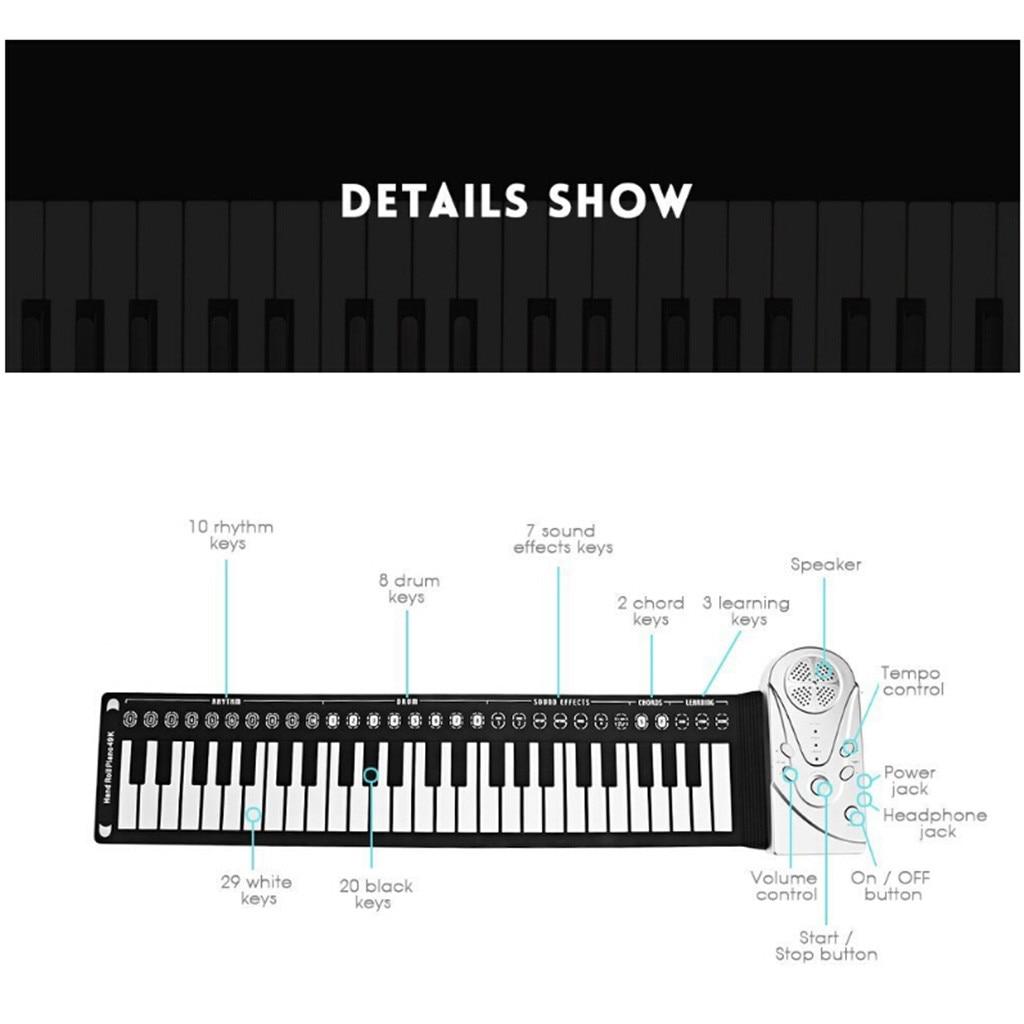 Flexible retrousser clavier électronique souple Piano Portable 49 touches cadeau pour les enfants - 2