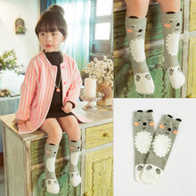 Little Girls Cartoon Animals Printing Stockings Toddler Kids Girls Boys Cotton Stocking Clothing Accessory