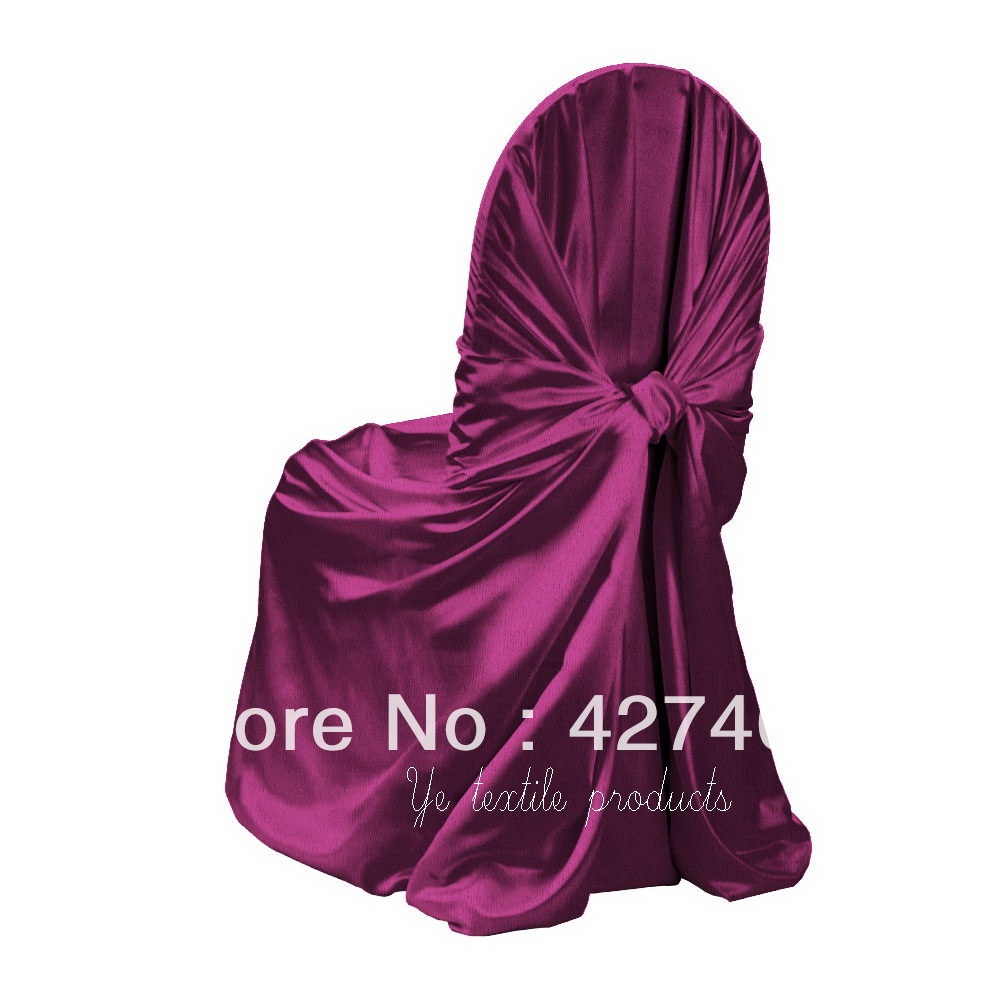Hot Shitje Fuchsia qese Vetë-lidhëse - Mbulesa për karrige sateni - Tekstil për shtëpi