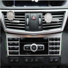 Interior de aluminio Botón Interruptor Del Panel Panel de Ajuste de La Cubierta decorativa de La Consola Central Para Mercedes Benz Clase E W212 2010-2015
