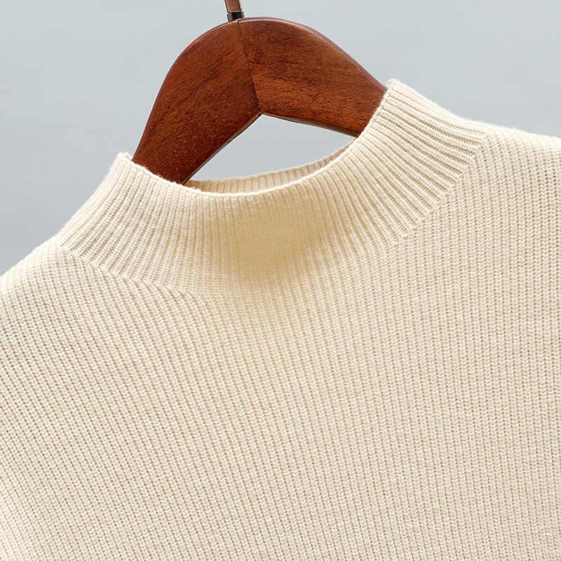 GIGOGOU осень зима негабаритных водолазка для женщин свитер высокая низкая ЛЕМ свободные трикотажные пуловеры Топы Pull Femme мягкий джемпер Джерси