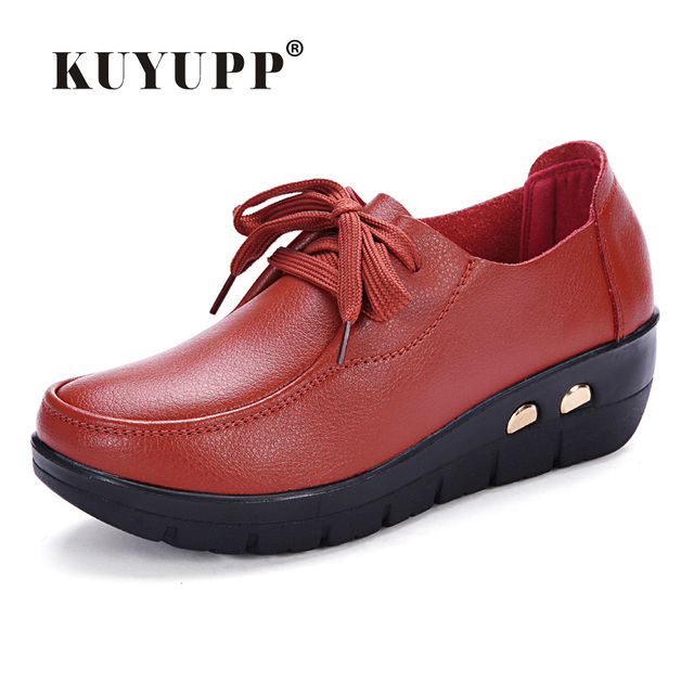 Women Oxfords Leather Shoes New Arrival Round Toe Lace Up Casual Women Flats Size 35-41 Flat Heels Platform Ladies Shoes NX27