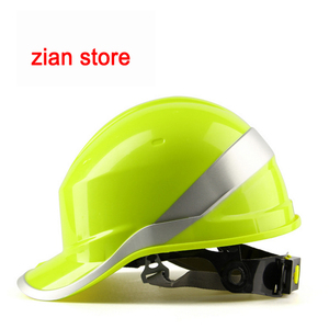 Image 5 - Free print logo Safety Helmet Hard Hat Work Cap ABS Insulation Material With Phosphor Stripe Construction Protect Helmets