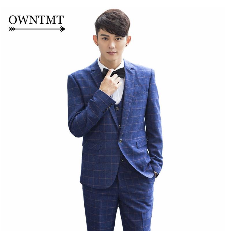 High Quality Plaid Blue Suit-Buy Cheap Plaid Blue Suit lots from
