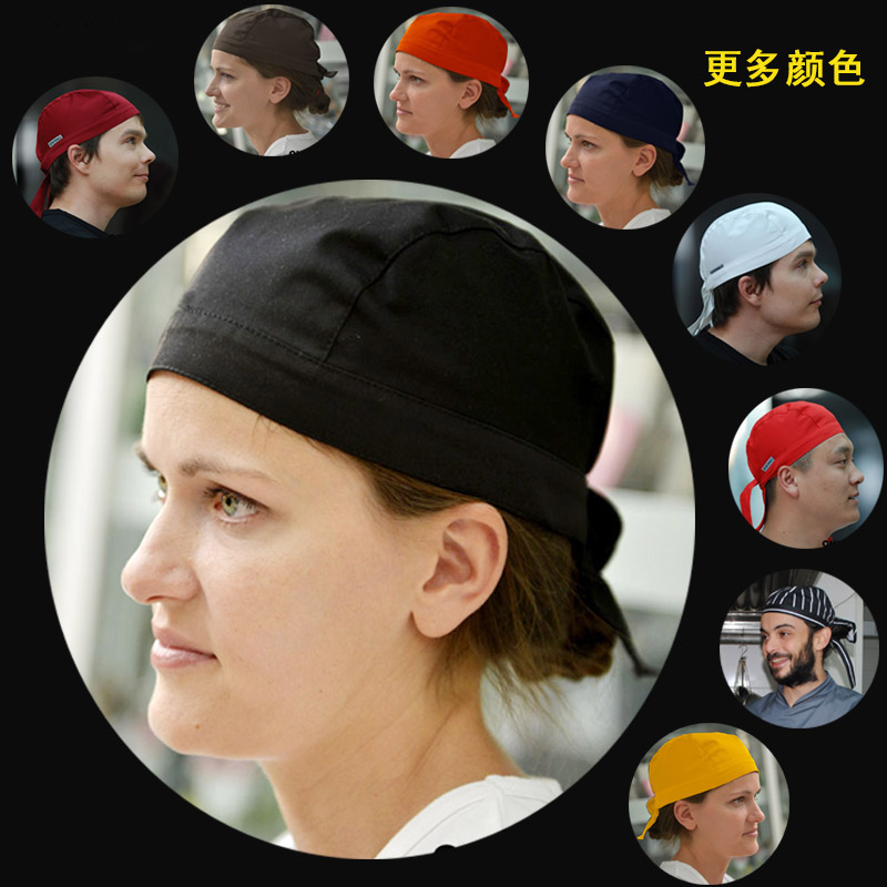 NiaaHinn Restaurant Restaurant Kitchen Chef Waiter Hat Pirate Piggyback Cap Turban Cap Fast Food Cap