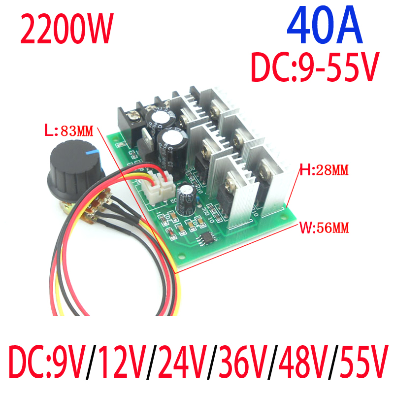 Online Shop Free Shipping High Power 40A DC Motor Controller DC 9V ...