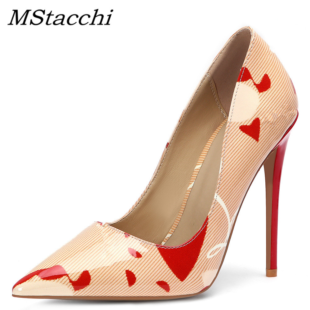 Mstacchi Womens Shoes Sandals Lady Pumps Pointed-Toe High-Heels Sexy Designer Luxury