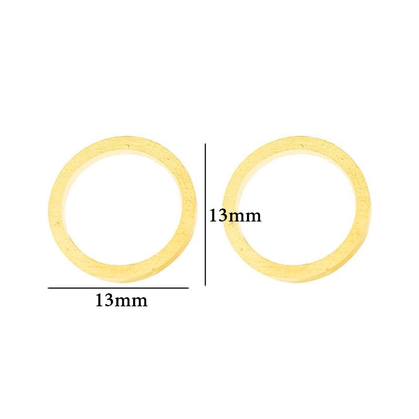 Minimalism Kõrvarõngad Charm Circle Karma kõrvarõngad naistele - Mood ehteid - Foto 2