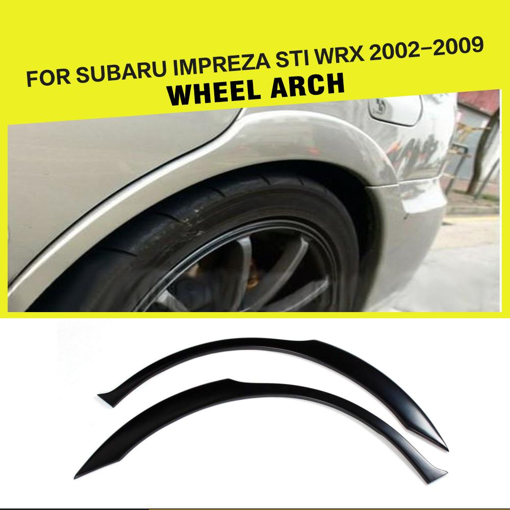 PU Mouldings Kit Side Wheel Arch Fender Flares Trims for <font><b>Subaru</b></font> Impreza <font><b>WRX</b></font> <font><b>STI</b></font> 2003 - 2006 image