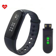 New Smart Wristband D101 Smart band Fitness heart rate Pedometer Clock Mp3 player bracelet for IOS android PK Xiaomi mi band 2