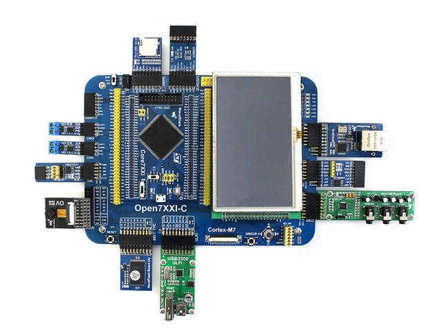 US $116 95 14% OFF|Waveshare STM32F7 Development Board Open746I C Package A  STM32F746IGT6 MCU STM32F746I integrates various standard interfaces-in