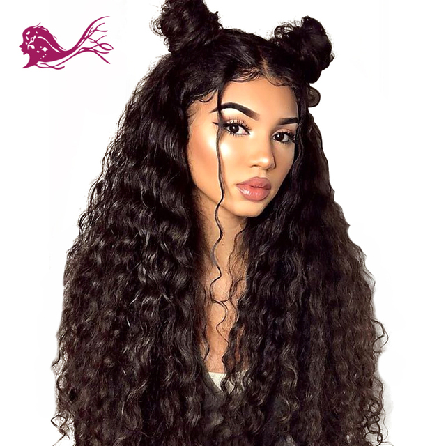 29ea8bb19 Eayon Hair 150% Density Loose Deep Curly Full Lace Human Hair Wigs With  Baby Hair For Black Women Pre Plucked Remy Glueless