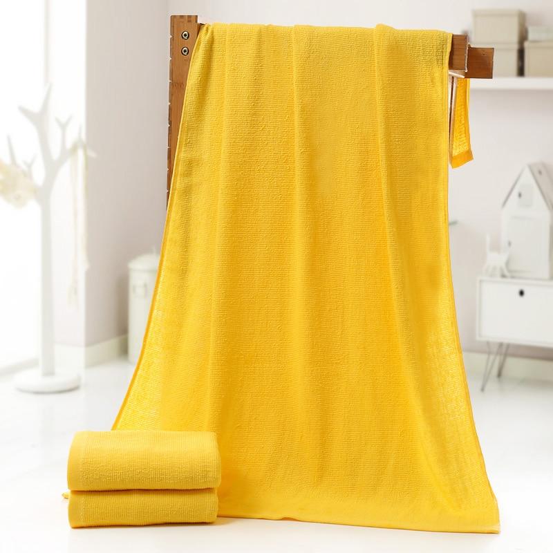 1 unids rectángulo de color amarillo 100% algodón toalla de baño washclothes adu
