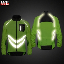 WOSAWE High visibility Motorcycle Mens Windbreakers Waterproof Light Weight Safety Motocross Jacket Mountain Bike Clothing