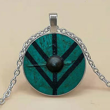 New arrived Viking necklace The shield of Lagertha pendant jewelry Cothic Glass Cabochon Necklace pendant amulet Gifts(China)