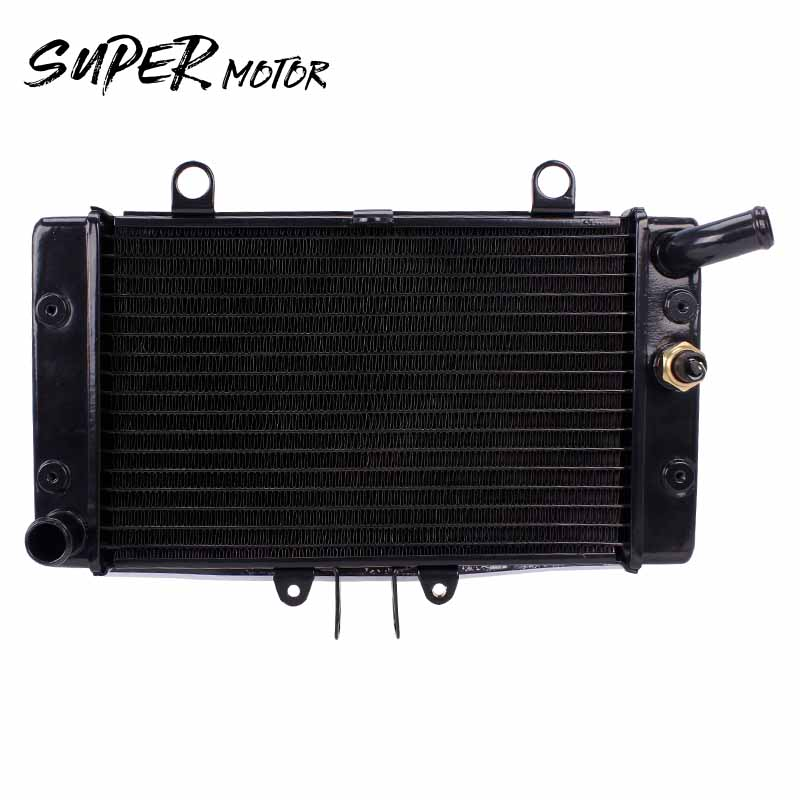 Motorcycle Accessories Water Tank Radiator Cooler Water Cooling With Temperature Sensor Thermostat For HONDA CB 1