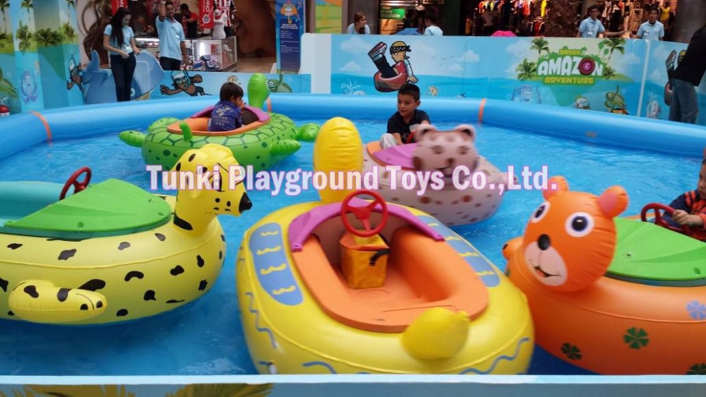 Kids animal bumper boat water boat motorized pool boat