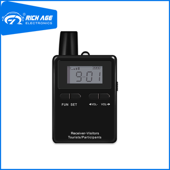 RichiTek Tour Guide System Receiver Potable 2 Transmitters+1 Receiver For Tour Guide With Condenser Microphone