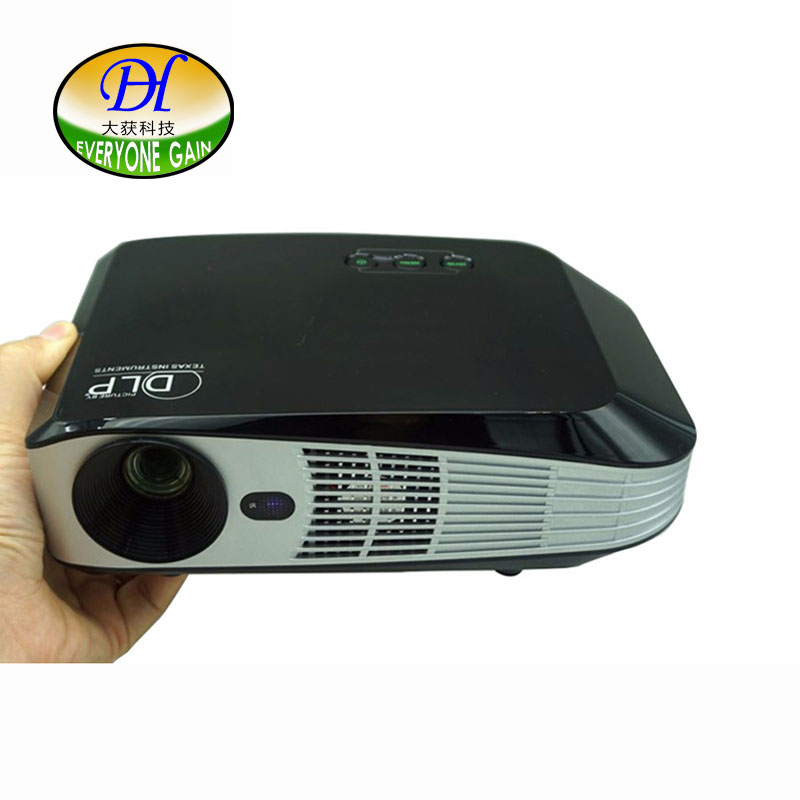 Everyone Gain Android 3D Technology DLP <font><b>Projector</b></font> <font><b>Led</b></font> Support 1080P <font><b>4K</b></font> BT 4.0 Proyector Dual WIFI Office Teaching HDMI DH-A108