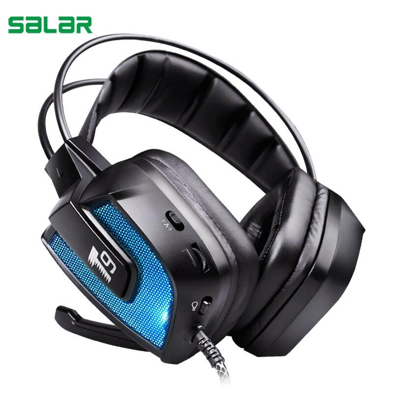 Salar T9 объемного звучания наушники вибрации игровой гарнитуры наушники повязка на голову для ПК компьютер