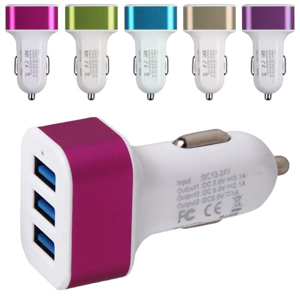 2.1A USB <font><b>Charger</b></font> Universal 3 Ports USB Car <font><b>Charger</b></font> For Samsung <font><b>Galaxy</b></font> S6 <font><b>S5</b></font> S4 S3 A5 Note 5 4 3 And Other <font><b>phones</b></font> Car-<font><b>charger</b></font>