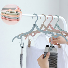 Buy Folding Clothes Hanger Clothes Drying Rack Multifunction Clothing Hanger Travel Wardrobe Underwear Coat Hanger Storage Rack directly from merchant!