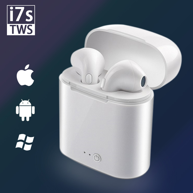 I7 I7s TWS Wireless Bluetooth Earphone Stereo Earbud Headset With Headphone Charging Box Mic For All Smart Phone Apple