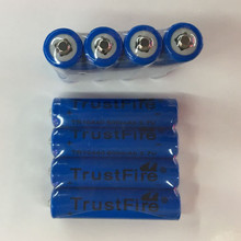 20pcs/lot TrustFire 3.7V TR10440 600mAh 10440 Li-ion Battery Rechargeable Batteries for LED Flashlights Headlamps