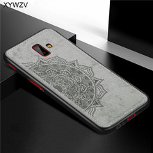 For Samsung Galaxy J6 Plus Case Shockproof Soft Silicone Luxury Cloth Texture Cover J6+