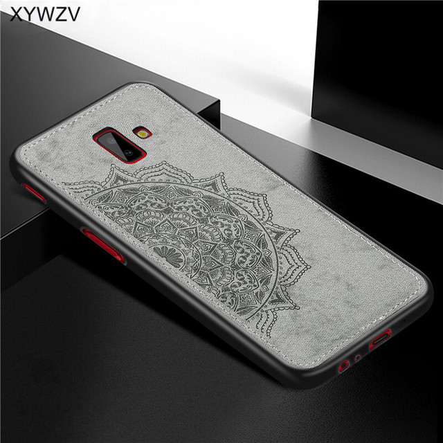 For Samsung Galaxy J6 Plus Case Shockproof Soft Silicone Luxury Cloth Texture Case For Samsung J6 Plus Cover For Samsung J6+