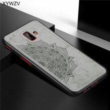 Para Samsung Galaxy J6 Plus funda de silicona suave a prueba de golpes funda de textura de tela de lujo para Samsung J6 Plus funda para Samsung j6 +