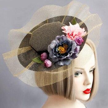 Princess Gothic Lolita Hairpin Handmade Lace Flower Hat Hair Headdress Flowers Hairclip Vintage DIY Accessories