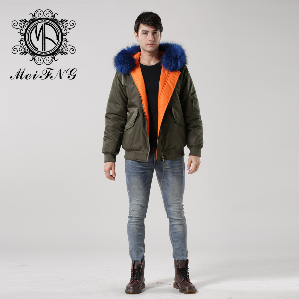 Short Men Jacket Fashion High Quality Winter Reversible Coat with ...