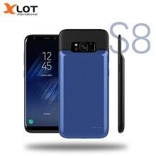 Xlot Батарея Зарядное устройство чехол для Samsung Galaxy S8 4000 мАч Мобильные аккумуляторы Магнитный чехол резервного копирования Зарядное устройство чехол для Samsung Galaxy S8 плюс