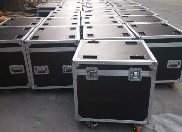 Black flight case for 6pcs p3 p6 p8 576x576mm led display cabinets for rental indoor outdoor led display road ready case