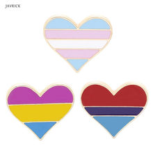 Gay & Lesbian Kebanggaan Rainbow Enamel Kerah Pin Bros Lencana Unisex Fashion Perhiasan(China)
