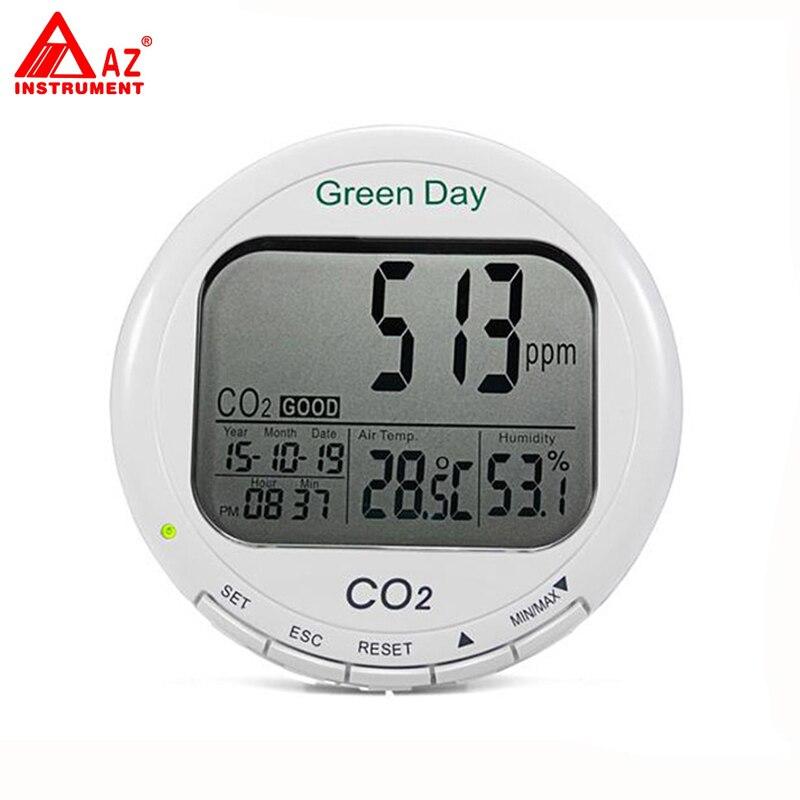 цена AZ-7788 Indoor Desktop CO2/ Temp / RH Monitor Air Quality Meter