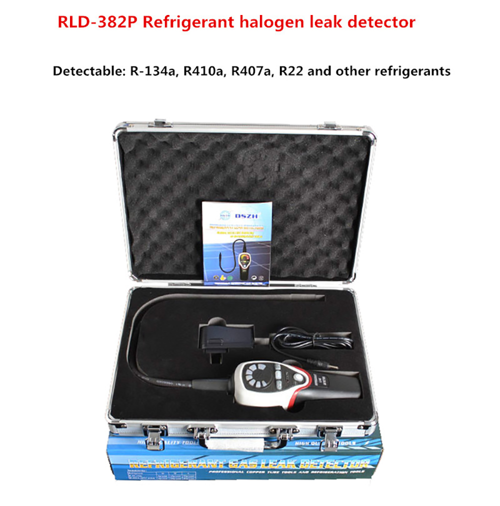 Réfrigérant halogène détecteur de fuite climatisation réfrigérant testeur de fuite R-134a R410a R407a R22 RLD-382P Y
