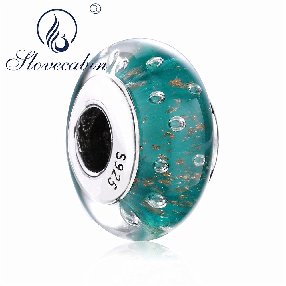 016d92a07 norway pandora charms murano glass mint glitter b3f9d c11e6