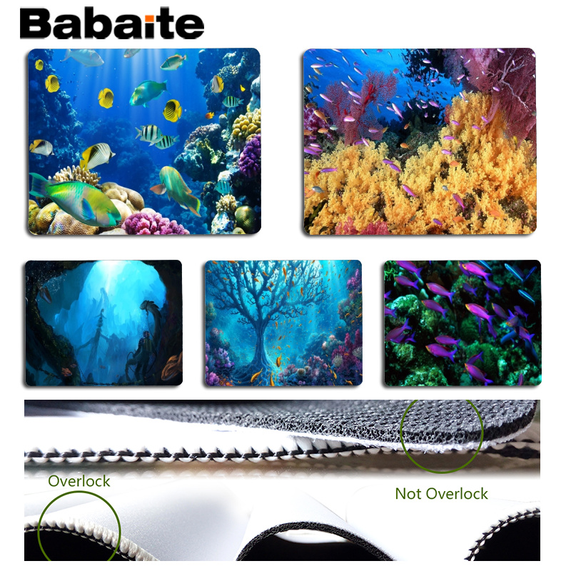 Babaite Underwater world Large Mouse pad PC Computer mat Size for 25x29cm Gaming Mousepads