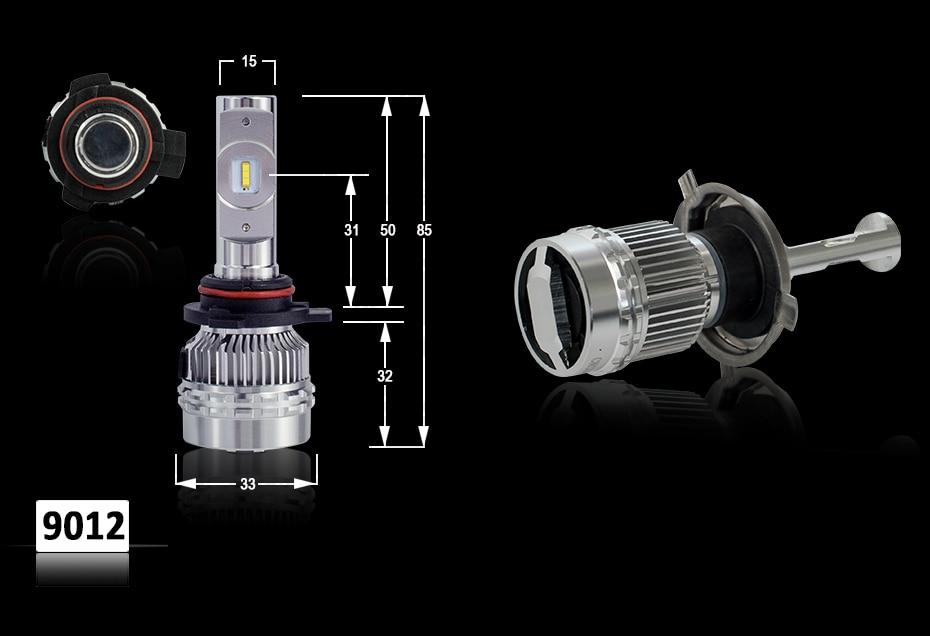 CNSUNNYLIGHT LED H4 H7 H11 H8 H1 H3 9005 9006 HB4 Car Headlight Bulbs Adjustable Beam 60W 9000LM each Pair 6000K Auto Light 12v 24v (12)
